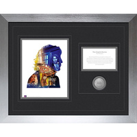 Doctor Who 8th Doctor 50th Anniversary Deluxe Framed Print with Medallion