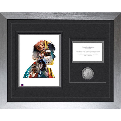 Doctor Who 6th Doctor 50th Anniversary Deluxe Framed Print with Medallion